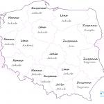 Najpopularniejsze imiona w 2015 - mapa Polski - województwa